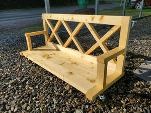 Rustic X Porch Swing for Sale in Carthage, TX