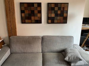 Two Original Handcarved Reclaimed Wood Wall Artwork for Sale in New York, NY
