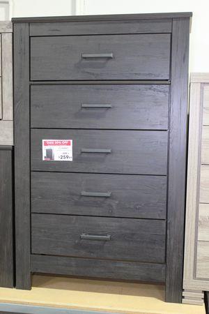 Five Drawer Chest, Black for Sale in Santa Fe Springs, CA