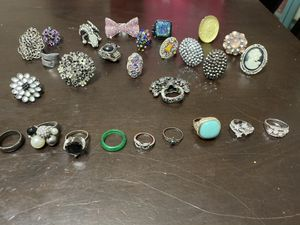 Lot of 27 costume rings for Sale in Visalia, CA