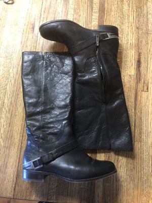 Ugg Channing II Black Leather Riding Boot Women's Size 8 EU 39. for Sale for sale  Ramona, CA