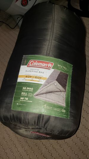 Coleman big an tall sleeping bag for Sale in Glen Burnie, MD