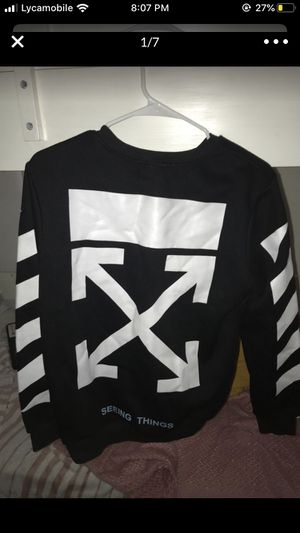 Off white sweatshirt size large but fits medium never worn before putting for $200 but price is negotiable for Sale in Alexandria, VA