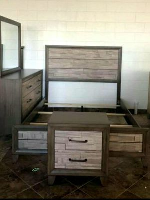 Brand new in the box                     Jaren Light Brown Panel Bedroom Set for Sale in Jessup, MD