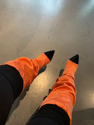 Thigh high heel boots Azalea wang size 10 for Sale in Chicago, IL