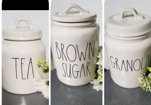 Rae Dunn canisters / farmhouse decor kitchen home storage for Sale in Compton, CA