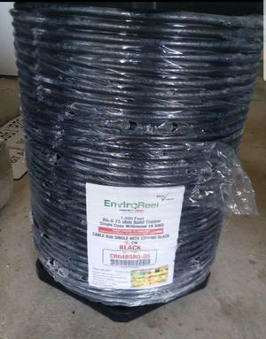 Coax RG6 single without ground and single with ground for Sale in Spring, TX