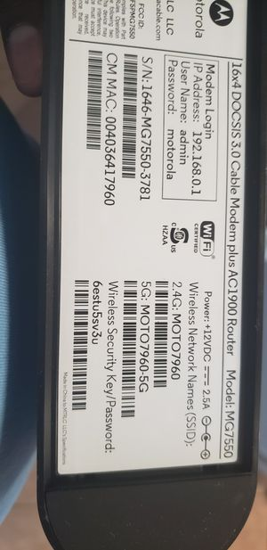 Motorola modem MG7500 for Sale in Humble, TX