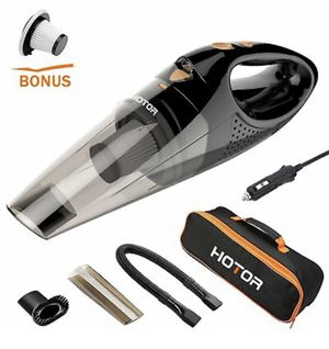 Car Vacuum, HOTOR Corded Car Vacuum Cleaner High Power for Quick Car Cleaning, DC 12V Portable Auto Vacuum Cleaner for Car Use Only - Orange for Sale in Los Angeles, CA