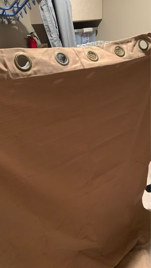 Four Brown/Tan curtains, completely blocks light for Sale in Bellevue, WA