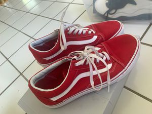 Red Vans size 12 for Sale in Bowie, MD