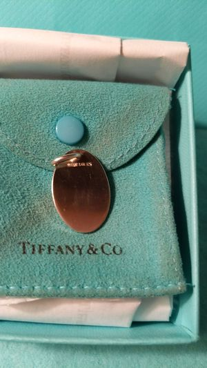 Tiffany & Co Oval Tag Pendant for Sale in McKeesport, PA