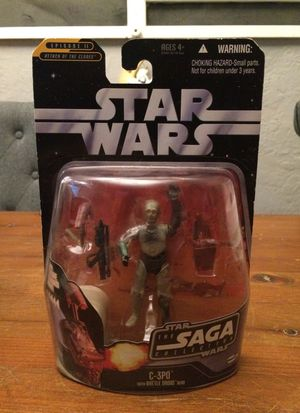 Star Wars The Saga Collection #17 Episode II Attack of the Clones C-3PO with Battle Droid head action figure for Sale in Puyallup, WA
