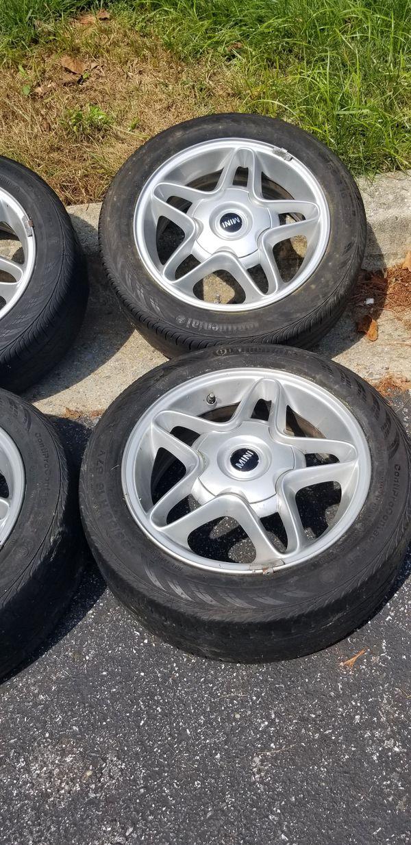mini cooper wheels rims with 195 55 16 tires 4x100 4 lugs