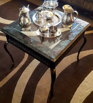 epoxy antique glass coffee table for Sale in Kennewick, WA