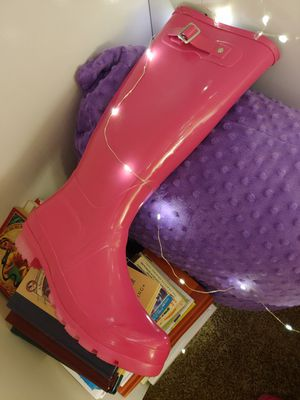 Pink rubber boots size 9 for Sale in Peachtree City, GA