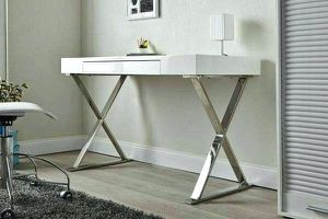 Brand New White lacquer computer desk for Sale in San Jose, CA