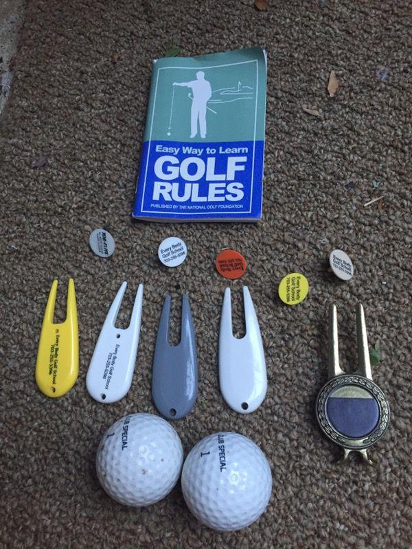 Acuity and Mc Gregor golf clubs/bag