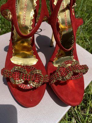 red suede francesco sacco platform heels for Sale in Alexandria, VA