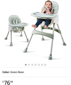 Baby High Chair, Adjustable Feeding Dining Booster Table Seat Highchair with Non-Slip Feet for Baby & Toddler for Sale in Los Angeles, CA