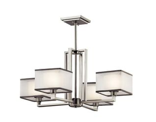 KICHLER Kailey 4-Light Brushed Nickel Chandelier with White Frosted Glass Shade for Sale in Dallas,  TX