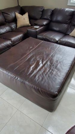 Brown Leather Sectional for Sale in Wakefield,  MA
