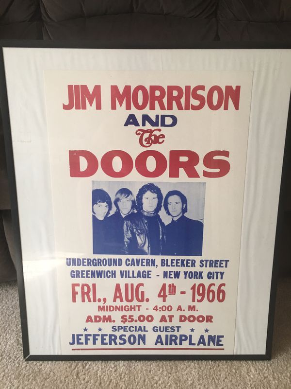 The Doors Poster in frame