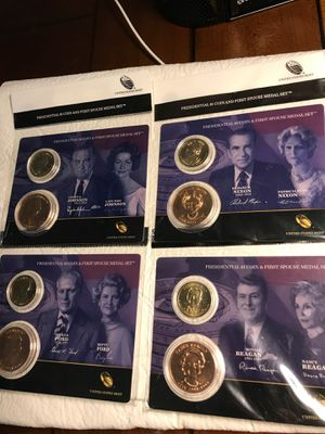 Lot of 4 Presidential coins & Spouse medals for Sale in Lake Wales, FL