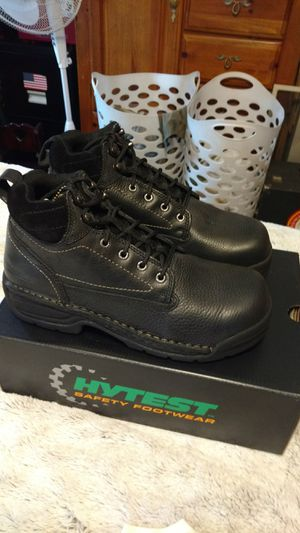 Steel Toe Work Boots HYTEST men's size 11W for Sale in Melrose, MA