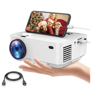 DBpower - Mini Projector, DBPOWER 2400Lux Portable Video Projector for Home Theater, Support Screen Mirror with Smartphone & Pad, 1080P/HDMI/VGA/USB/ for Sale in Bloomington, CA