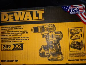 Dewalt 20v brushless drill combo for Sale in Dedham, MA