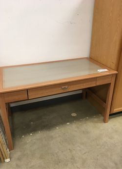 Desk with Glass Insert for Sale in Puyallup,  WA