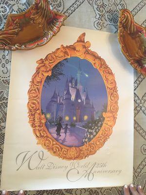 Walt Disney 25th anniversary poster for Sale in Hialeah, FL