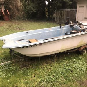 14 Ft Livingston Boat And Trailer for Sale in Shoreline, WA