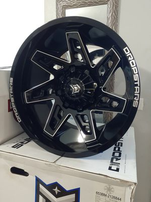 Wheels new in box 20x12 bolt pattern dual 6x135 and 6x139.7 universal 6 lugs-44 offset for Sale in Miami, FL