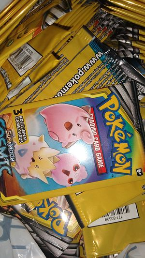 100 packs of Pokemon cosmic eclipse $65 for Sale in Norfolk, VA