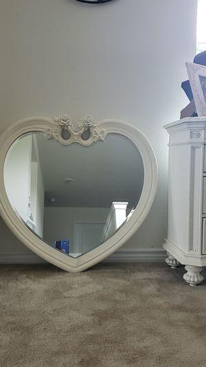 Disney's heart s shaped mirror for Sale in San Antonio, TX