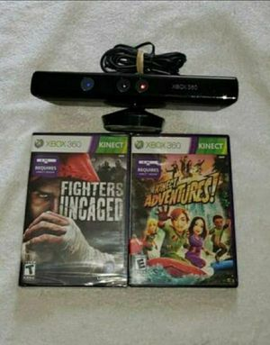 Xbox 360 kinect sensor bar and games for Sale in Portland, OR