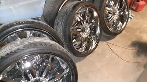 22 in rim's and new tires for Sale in Riverside, CA