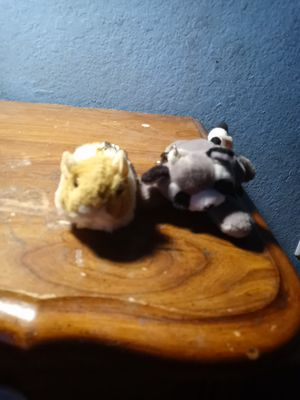 Hamster and raccoon plushy for Sale in Dana Point, CA