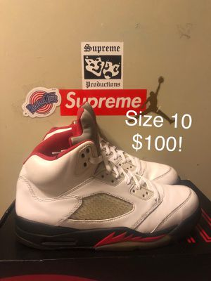 5's Fire Red, Size 10 $100 for Sale in Landover, MD