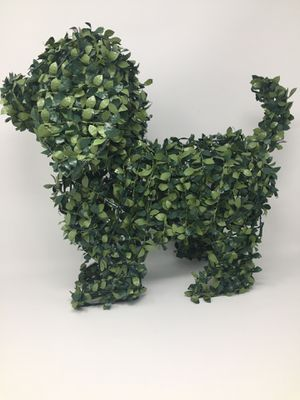 """Lighted 16"""" Dog Garden Topiary Battery with Timer Artificial Greenery for Sale in Parrish, FL"""
