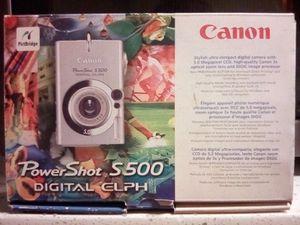 Canon PowerShot Digital ELPH S500 / Digital IXUS 500 5.0MP Digital Camera for Sale for Sale in San Jose, CA