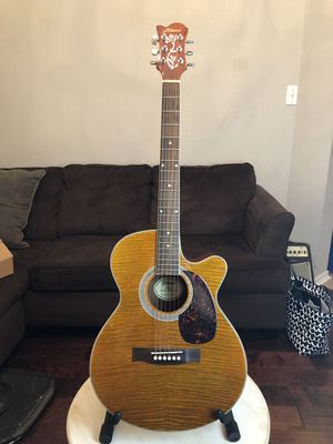 All solid wood - Tiger Stripe Gitano ATK50 Acoustic Electric Guitar for Sale in Richardson, TX