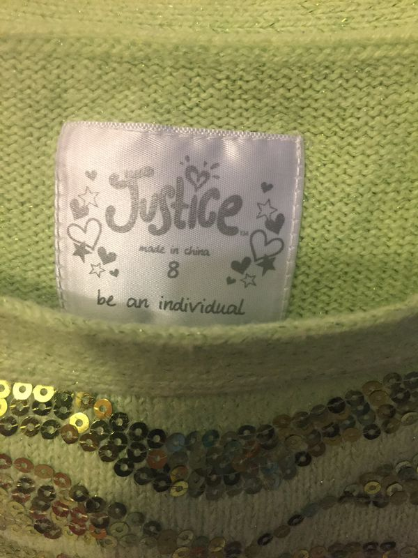 Girl Justice Sweater size 8
