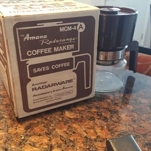 Microwave Coffee Pot Maker Radarange With Original Box Vintage Antique for Sale in Peoria, IL