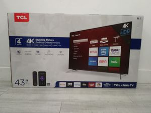 "43"" TCL 4K Roku Smart TV for Sale in Long Beach, CA"