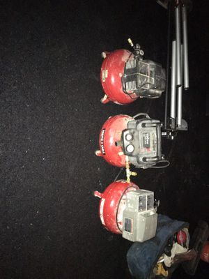 Porter cable compressors 40$ each for Sale in Mansfield, MA