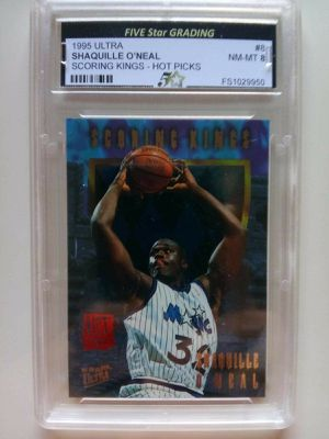 1995 Ultra Shaquille O'Neal #8 Scoring Kings Hot Picks NM-MT 8 for Sale in Alhambra, CA