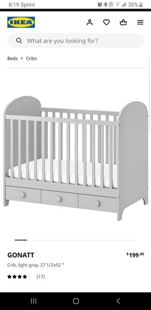 IKEA GONATT CONVERTIBLE CRIB/TODDLER BED for Sale in Cuyahoga Falls, OH